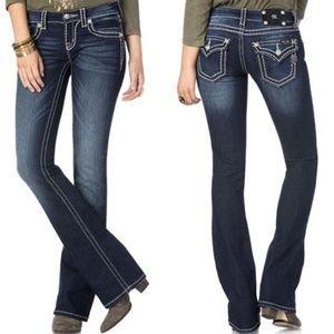 MISS ME Signature Boot Jeans Dark Loose 27 HW4047